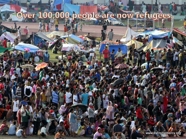There are 118,000 refugees from the civil war in Zamboanga City.